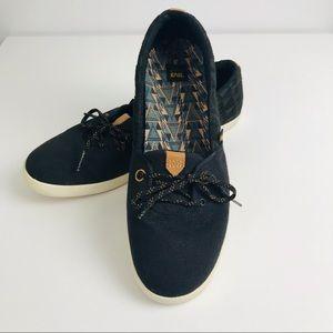 Teva Black Willow Canvas Slip On Shoe SZ 11